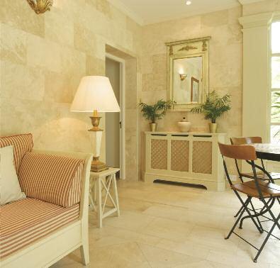 Natural stone for interior design