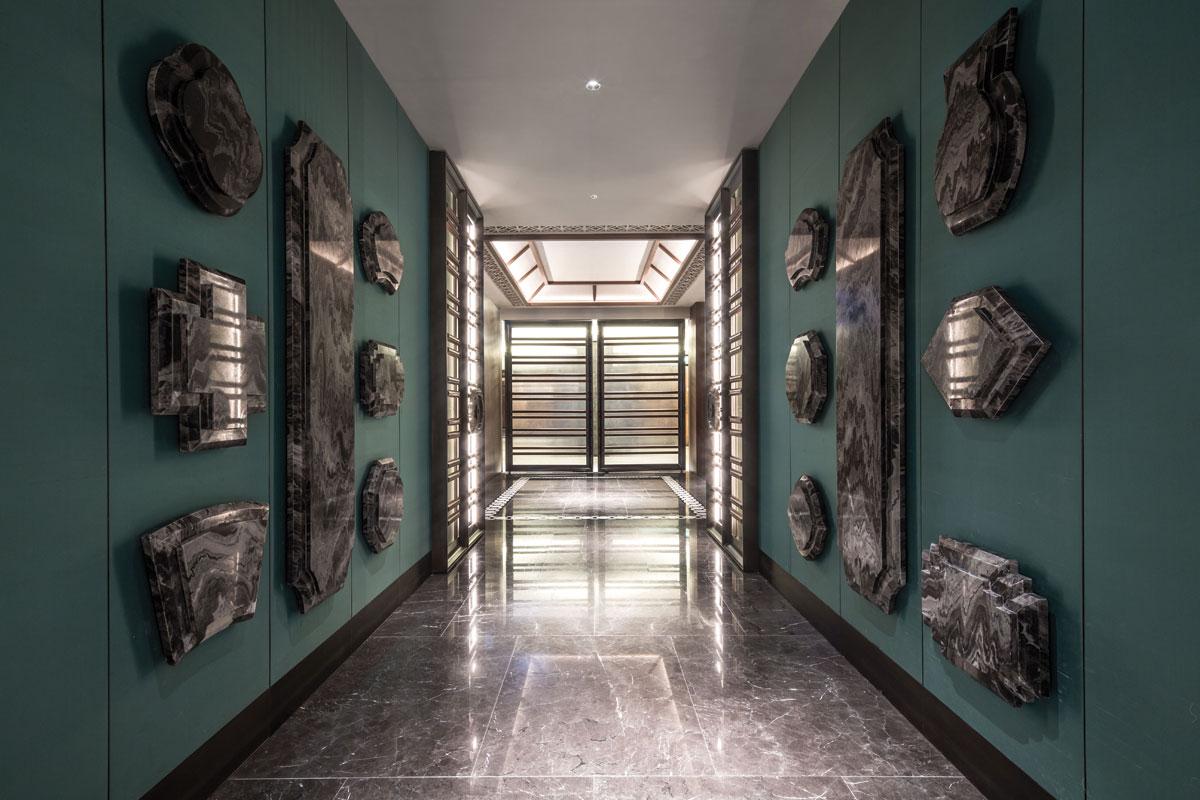 Contemporary interior design for Dynasty Restaurant