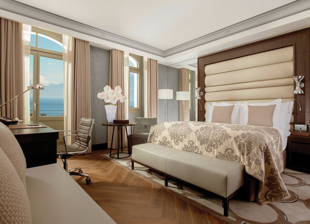 Luxury hotel design for Hotel Royal Savoy in Lausanne