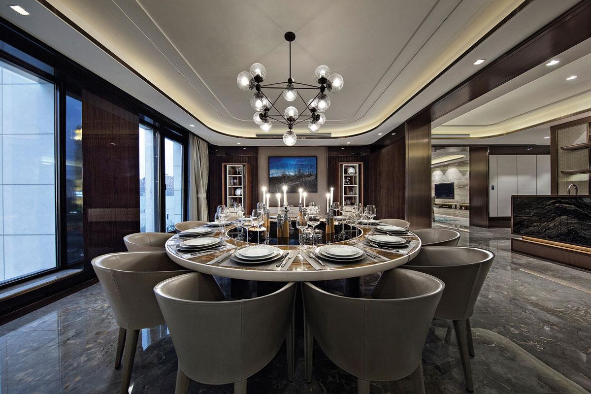 Dining room interior design for residential development