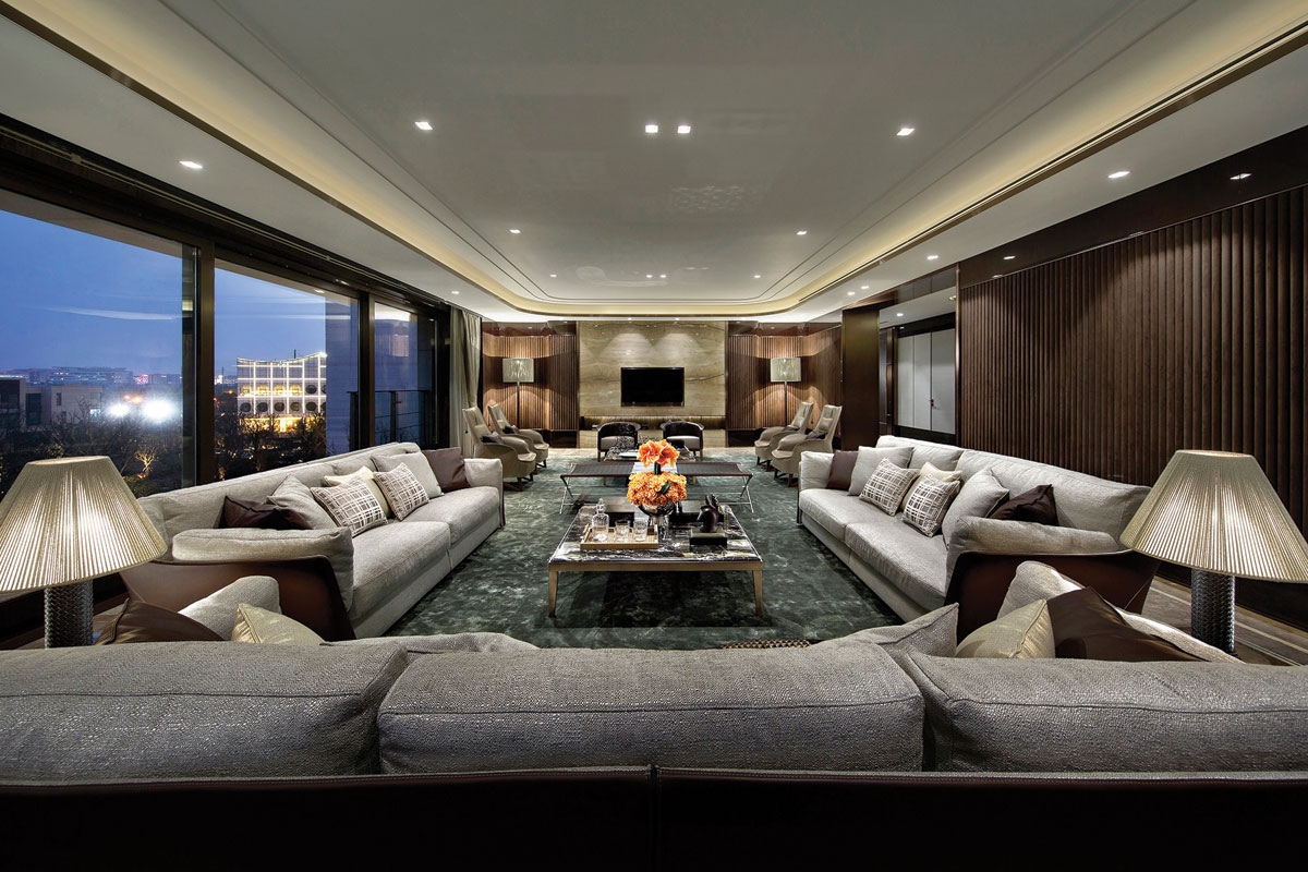 Living room interior design for residential development