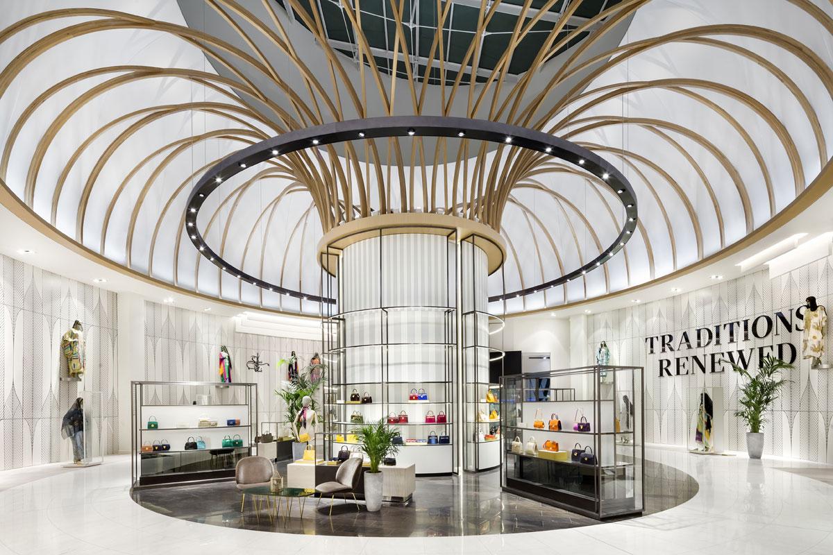 Retail interior design for Robinsons department store in Dubai by HMKM
