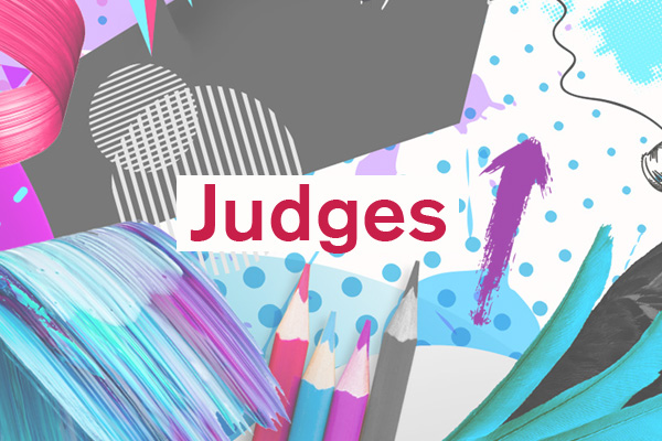 Judges artwork for student design competition, Designed for Business