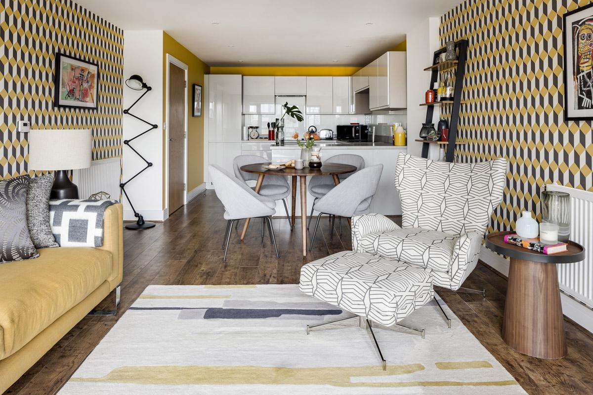 White Box Turned Stylish Town Apartment
