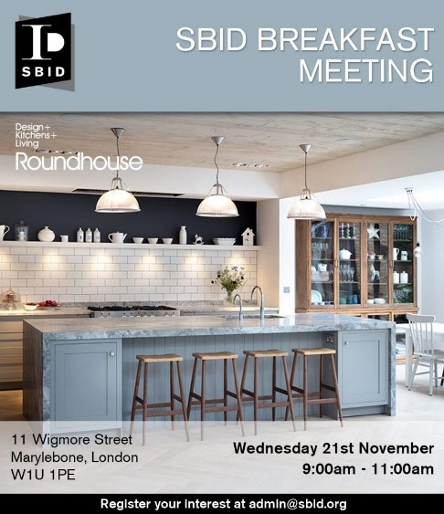 SBID interior design events invitation for Business Breakfast Meeting October 2018