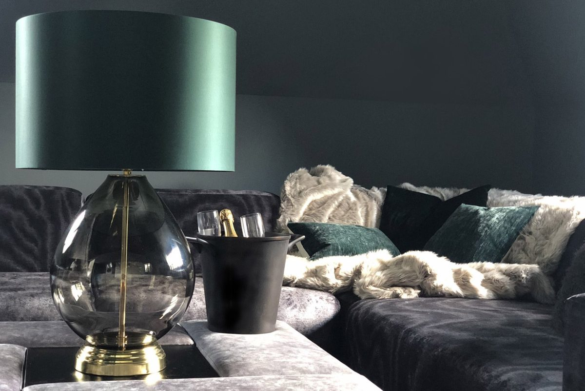 Alexander Joseph luxury lighting in an interior living room setting