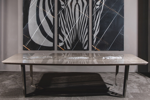 Product news featuring Alligator table by Elite Stone
