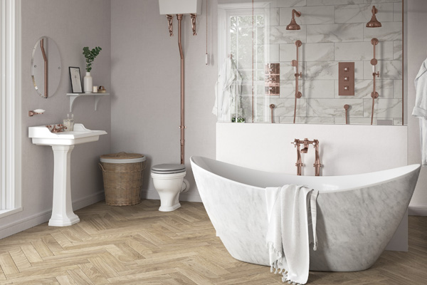 Product news featuring Wenlock bath by Heritage Bathrooms
