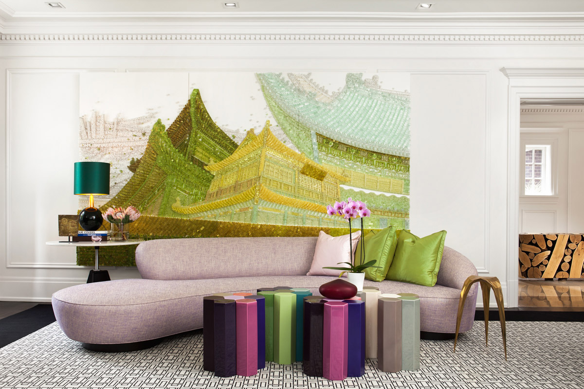 Family Home Embraces Bold Furnishings & Courageously Contemporary Art