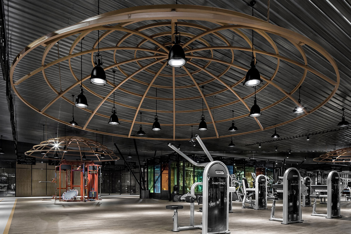 Innovative Fitness Centre with Industrial Aesthetic