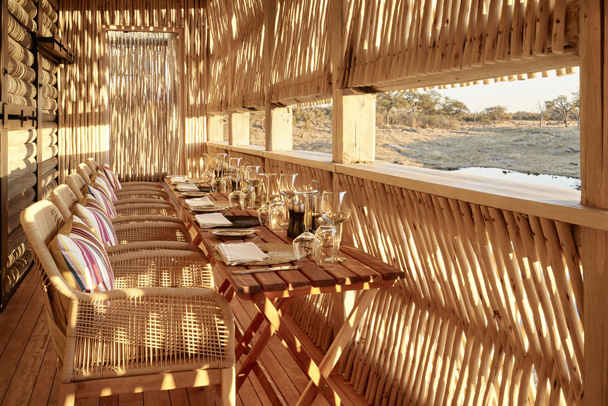 Sustainable hotel design by Muza Lab and Luxury Frontiers featuring outdoor dining and seating