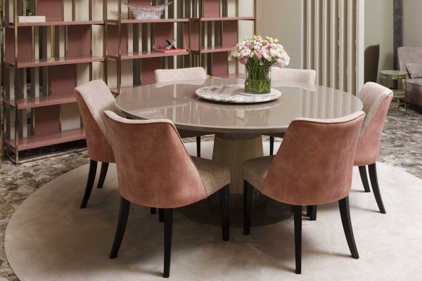 Product news featuring Oasis Turner Table in dining room interior
