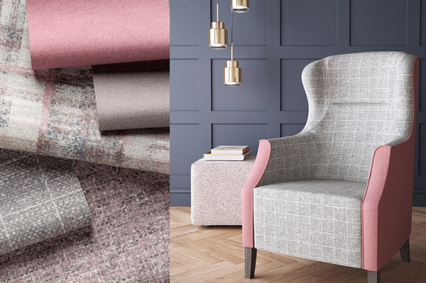 Product news featuring Dalston fabric range by Panaz