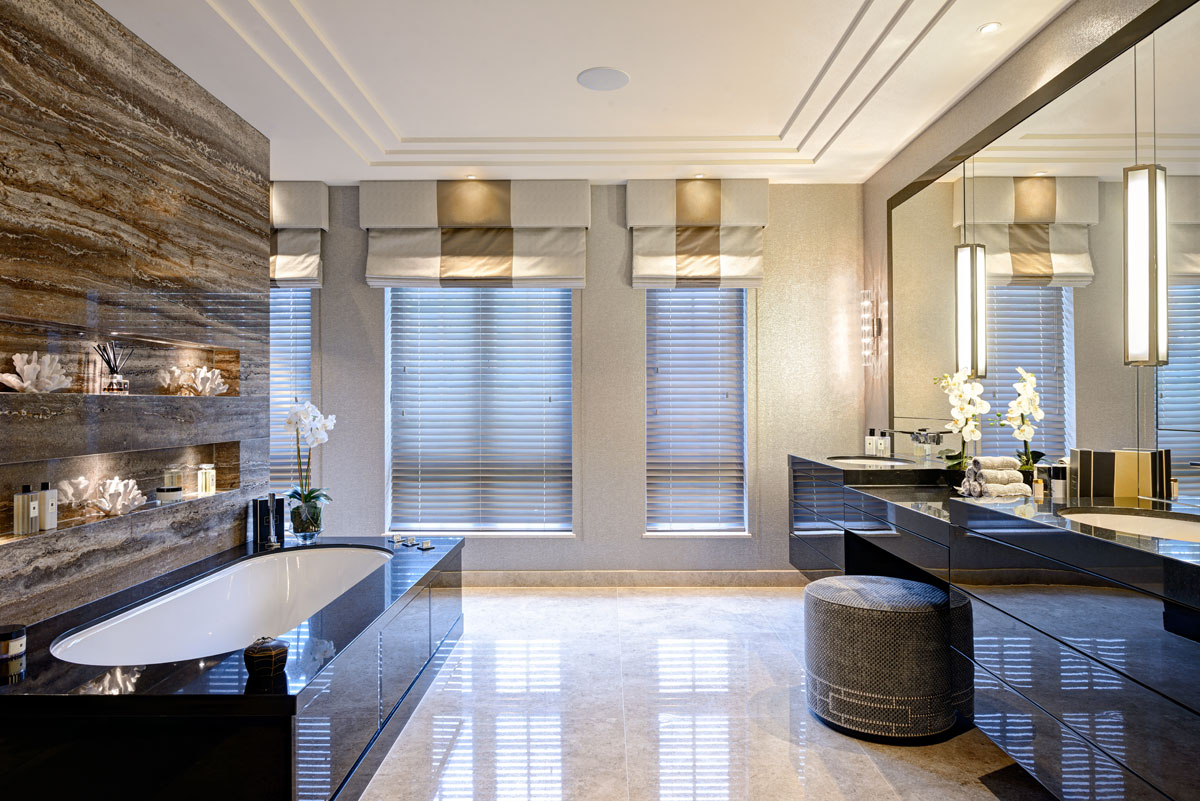 Residential design by Hill House Interiors featuring master bathroom