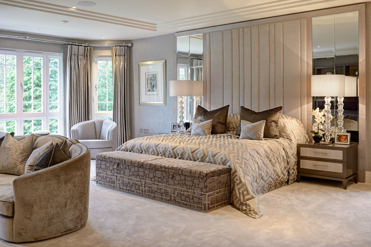 Residential design by Hill House Interiors featuring master bedroom