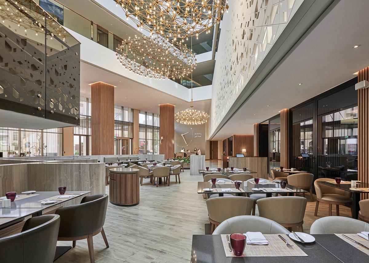 Hotel design by Godwin Austen Johnson featuring restaurant interior