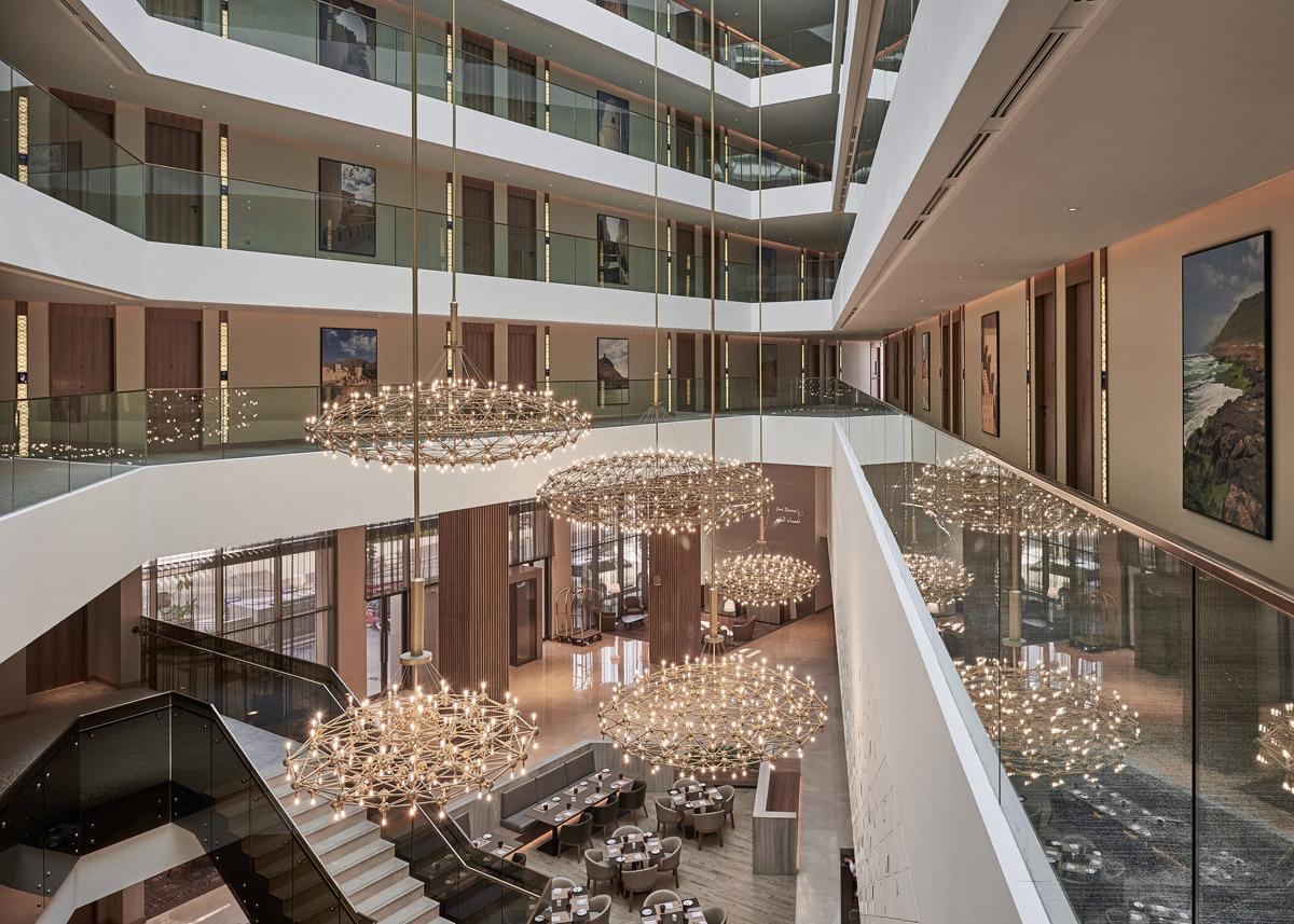 Hotel design by Godwin Austen Johnson featuring atrium public spaces