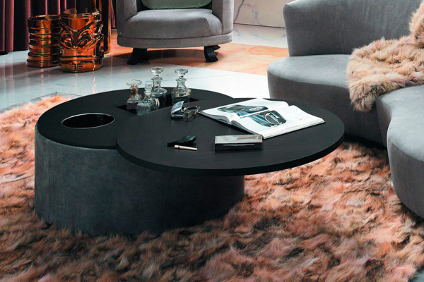 Product news featuring FCI Caprice Coffee Table by Smania in living room interior