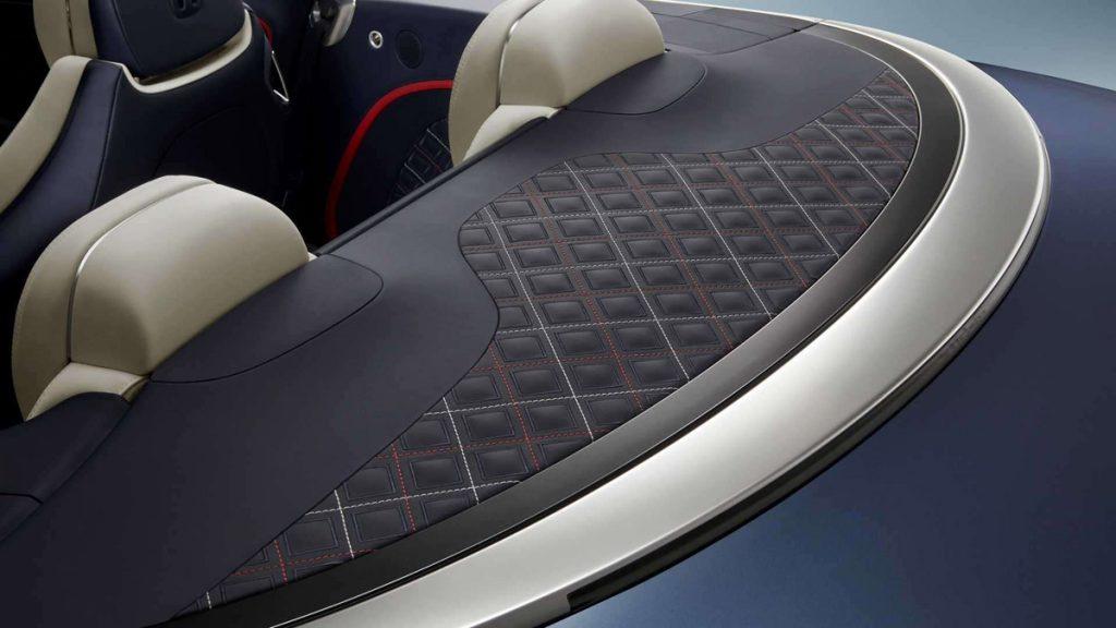 Bentley Continental GT Mulliner Convertible vegan leather details