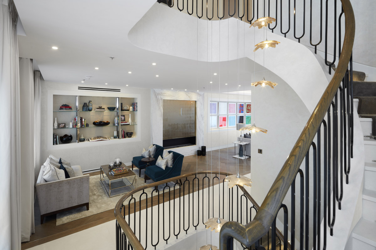 residential design, Boutique Townhouse in Notting Hill with Bespoke Luxury Detailing
