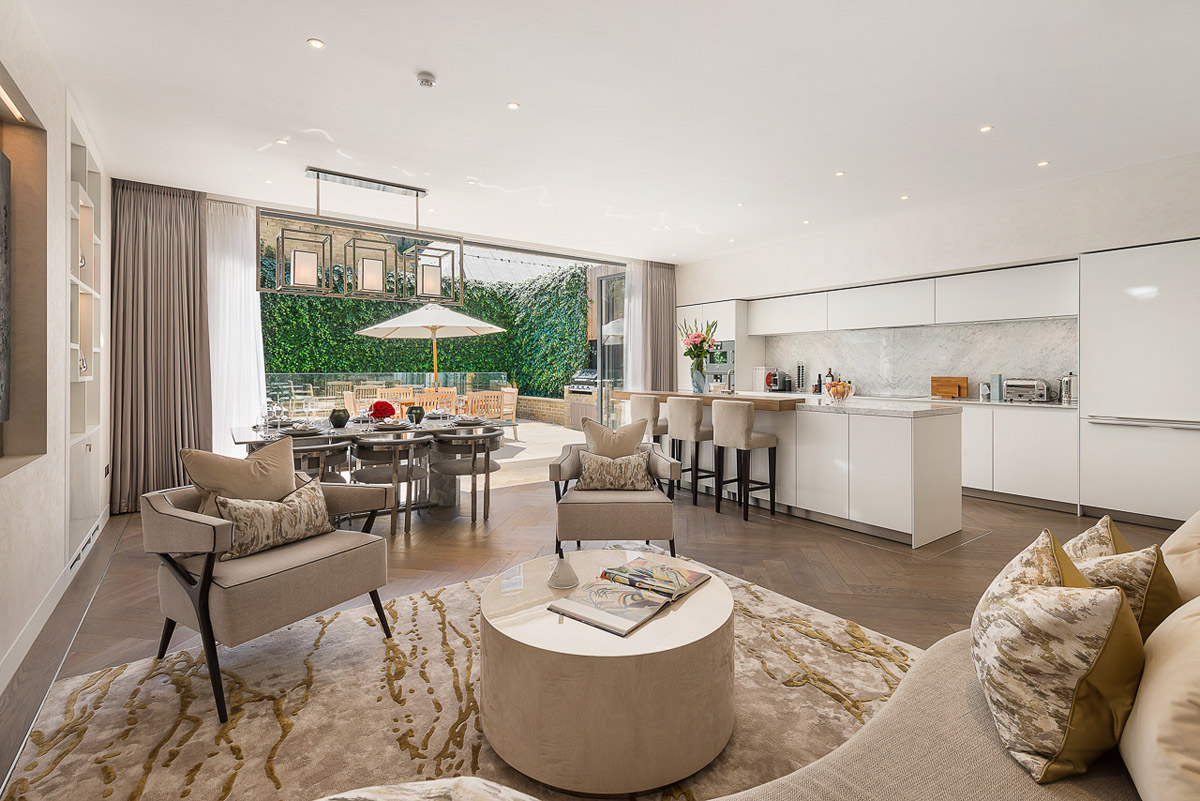 Boutique Townhouse in Notting Hill with Bespoke Luxury Detailing