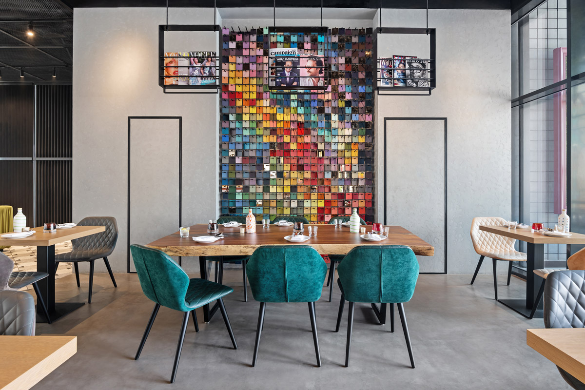 Hotel Pubilc Space Boasts a Vibrant, Playful and Immersive Design