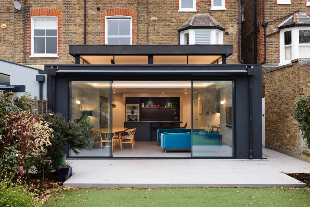 residential design, Minimalist Residential Extension Features Bursts of Colour