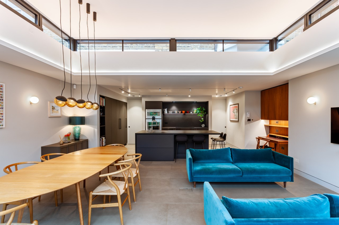 Minimalist Residential Extension Features Bursts of Colour