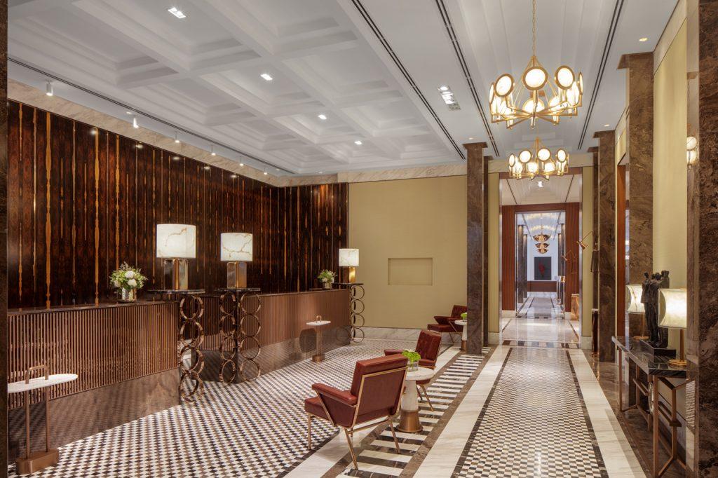 Hotel design, Mad Men Inspired Hotel Public Space Creates Impact