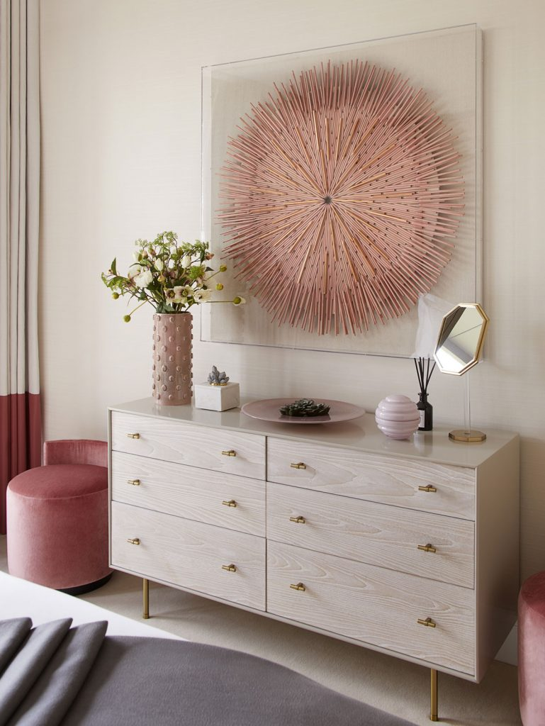 Interior styling details for residential apartment in London