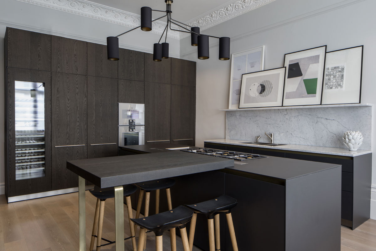 Contemporary kitchen design for Belsize Park by Roselind Wilson