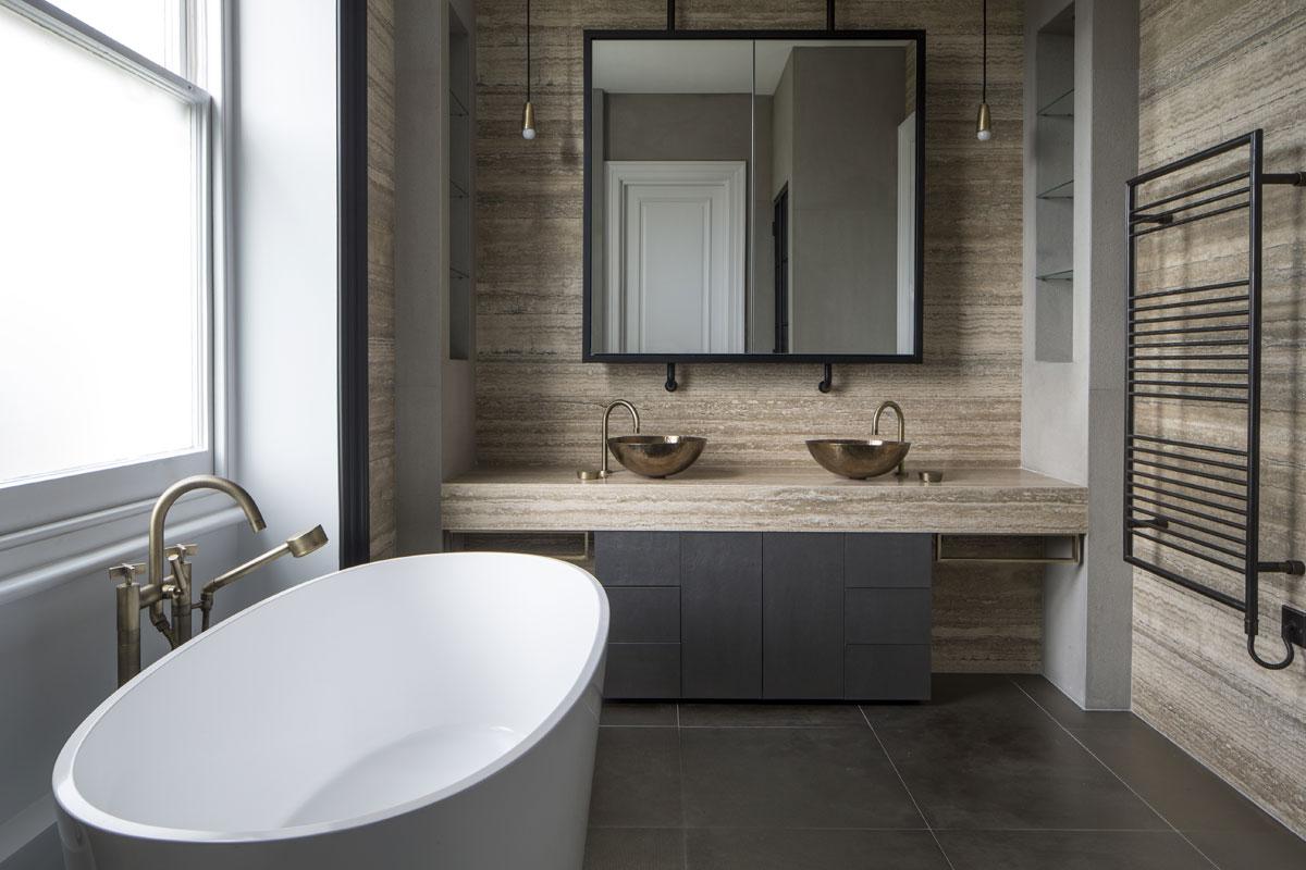 Bathroom interior design for Belsize Park by Roselind Wilson