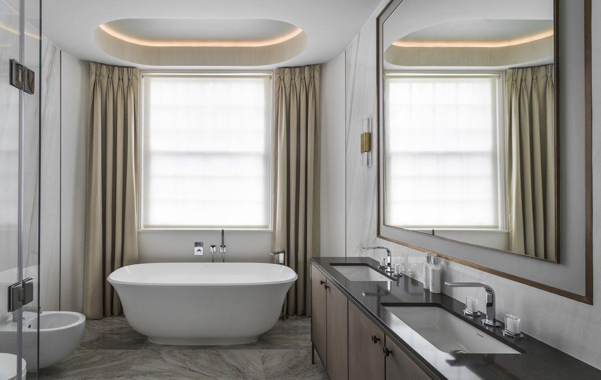 Carlton Hill master bathroom design by Roselind Wilson