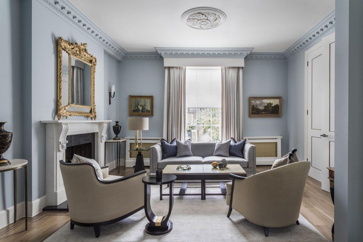 Carlton Hill reception room interior design by Roselind Wilson