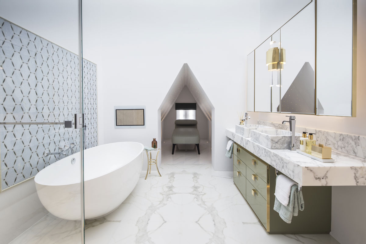 The Bromptons master bathroom design by Roselind Wilson