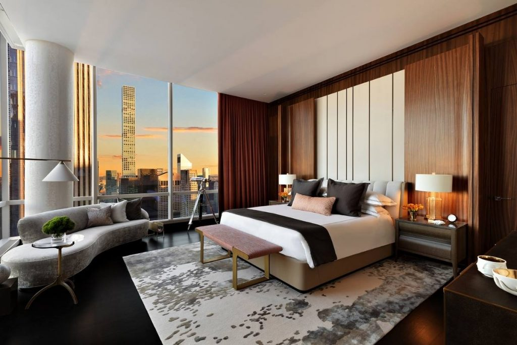 Manhattan Hotel Suite Design Frames Incredible Central Park View
