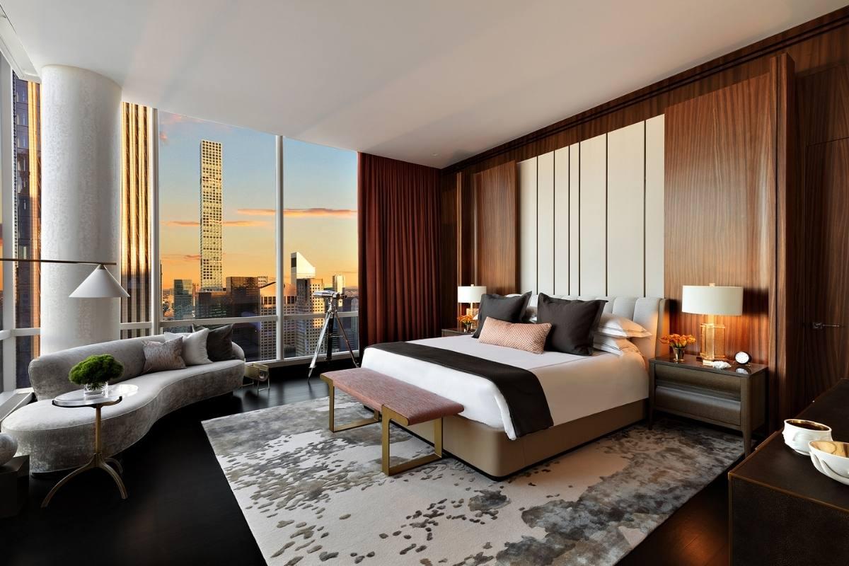 Manhattan Hotel Suite Design Frames Incredible Central Park View