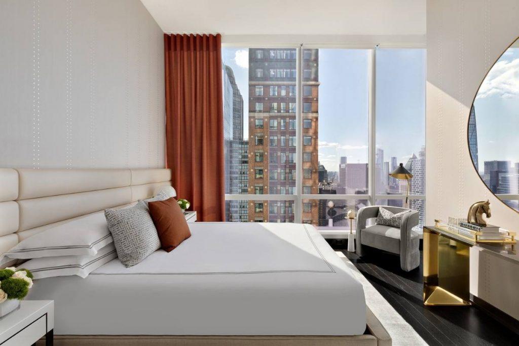 , Manhattan Hotel Suite Design Frames Incredible Central Park View