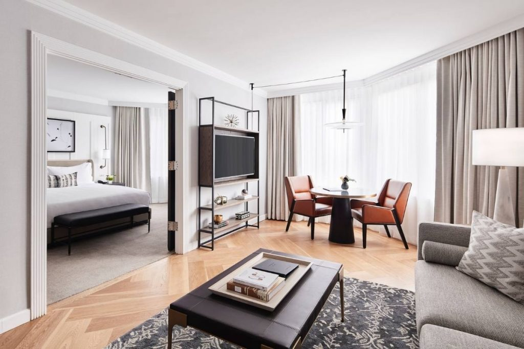 , Luxury Hotel Suite Design Exudes Timeless Residential Feel