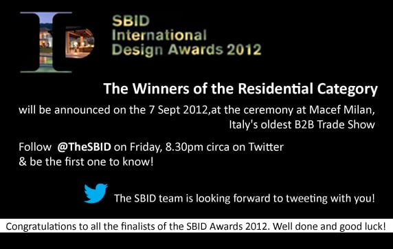 Winners of the 2012 SBID awards will be announced at Macef this Friday!