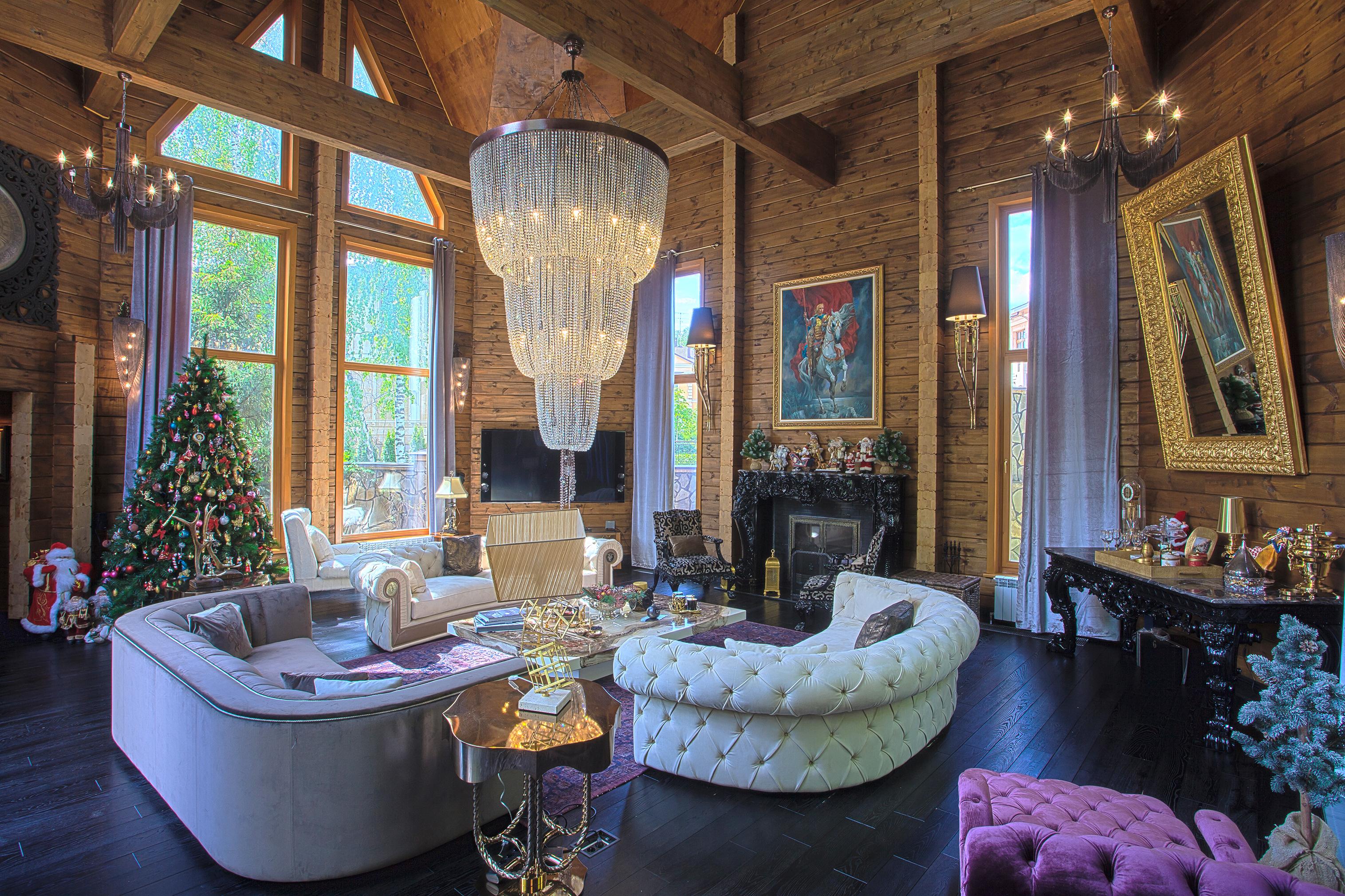 orkun indere interiors christmas christmas design design log house luxury - Russian House Design