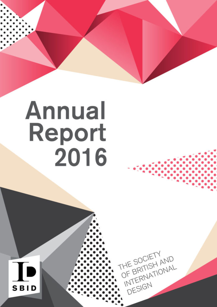 Annual report 2016 for the business development of SBID and the impact on the profession of interior design