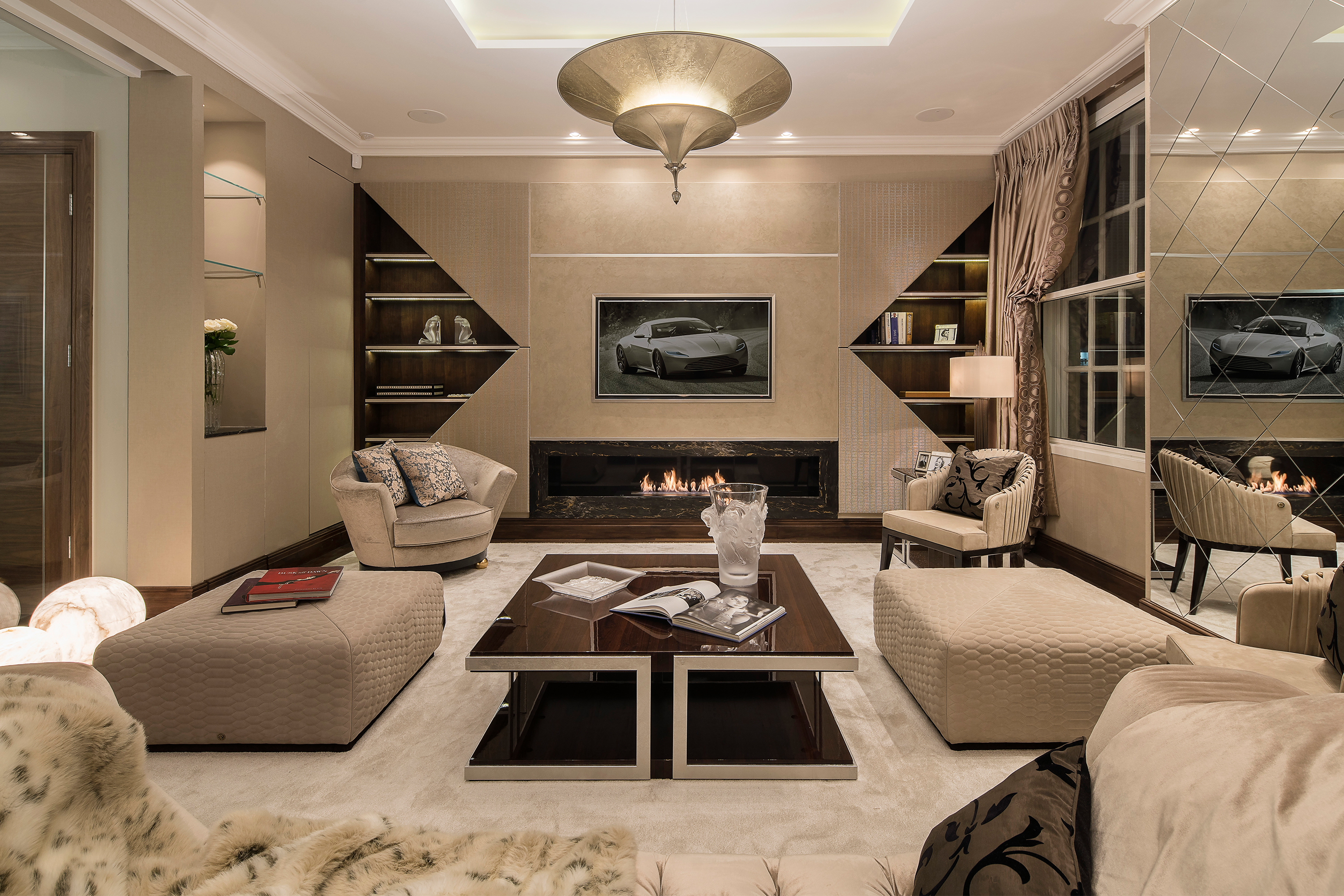 Luxury interior design scheme for high-end Mayfair apartment
