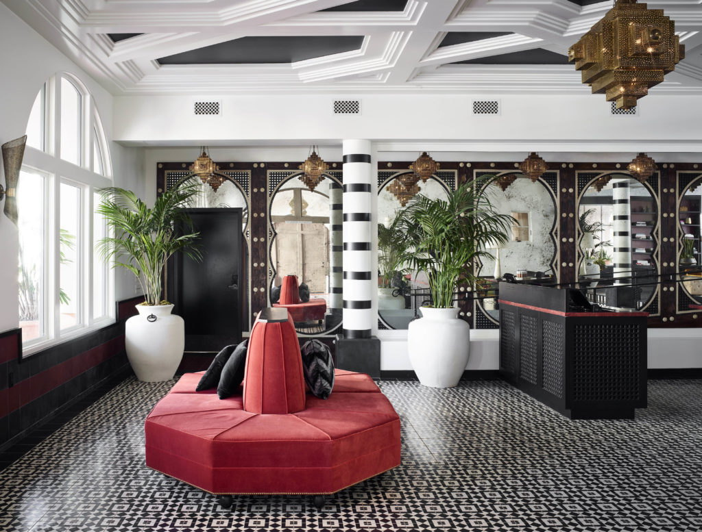 Mediterranean inspired interior design of Hotel Californian