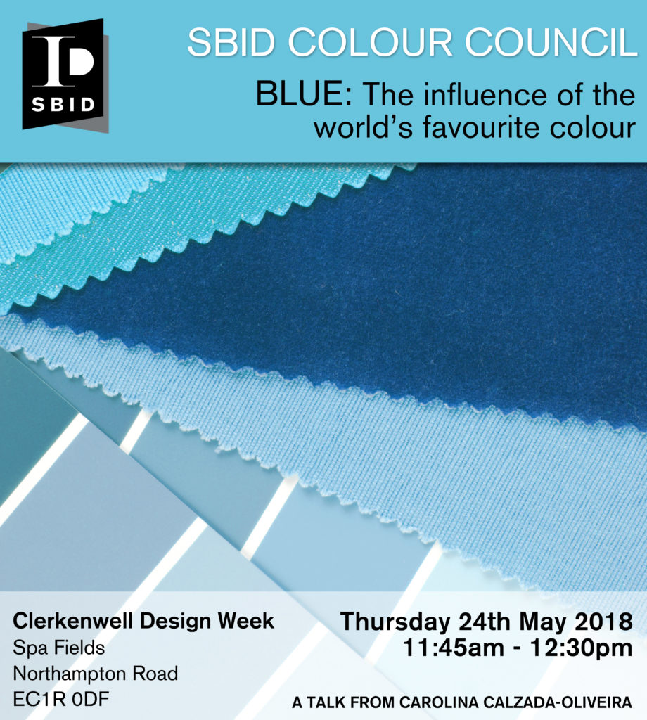 Event invitation for SBID Colour Council featuring at one of the leading industry design events, Clerkenwell Design Week, during Conversations at Clerkenwell.