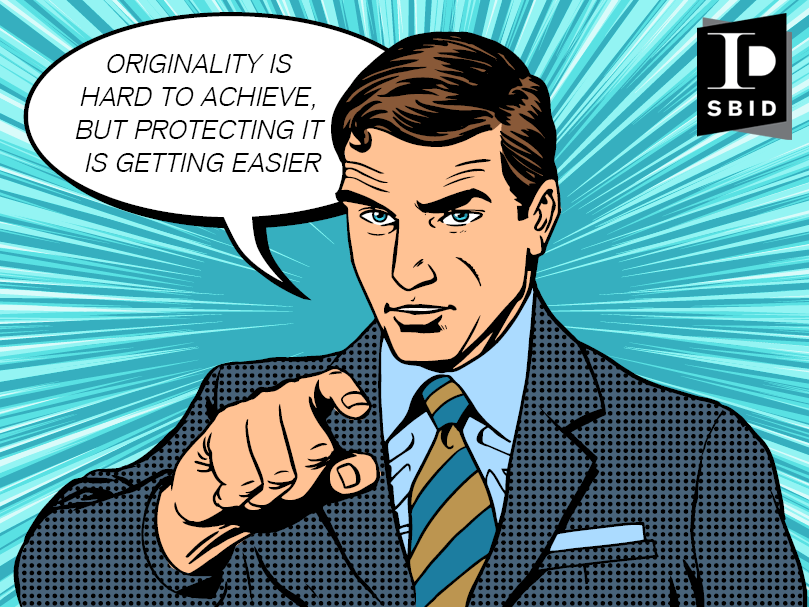 Intellectual property protection poster for protecting originality