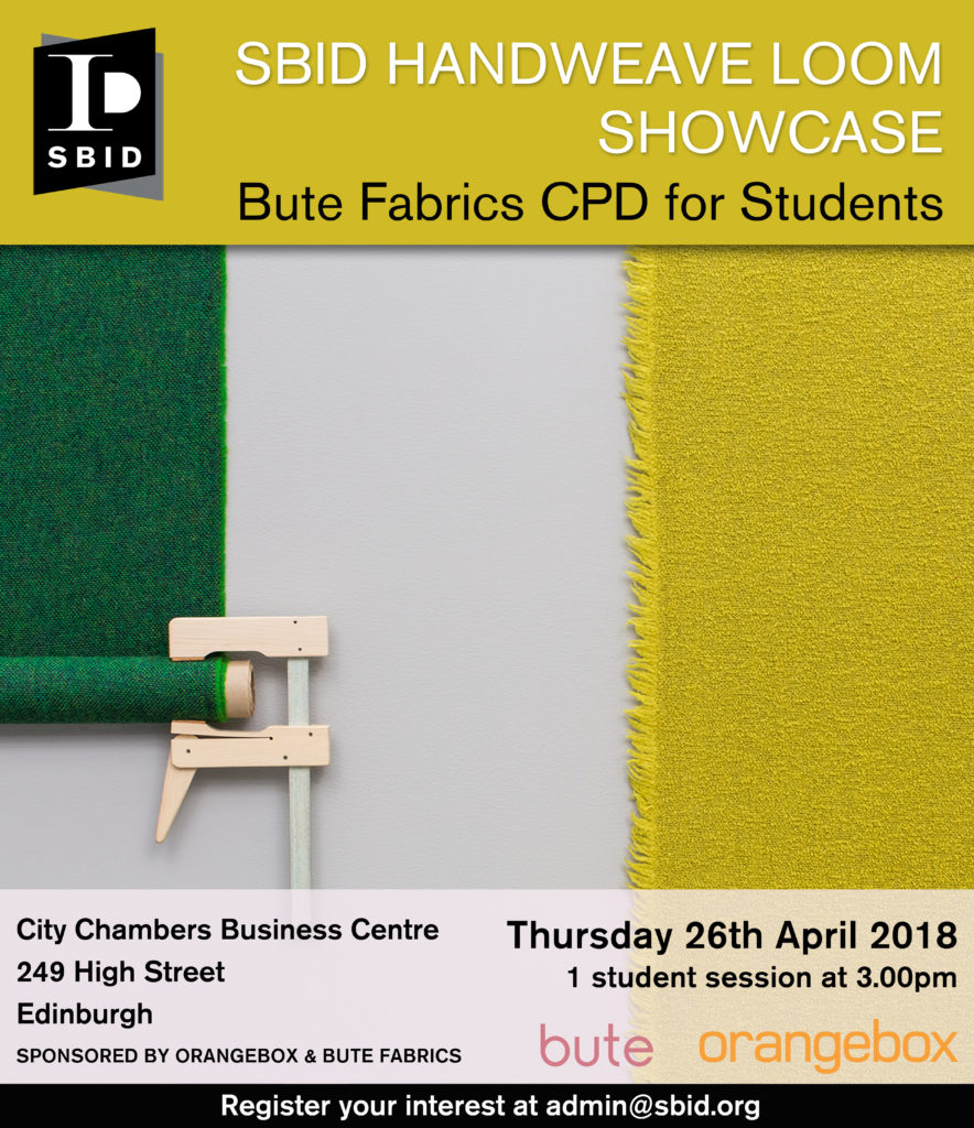 SBID Scotland Regional interior design CPD event invite for students April