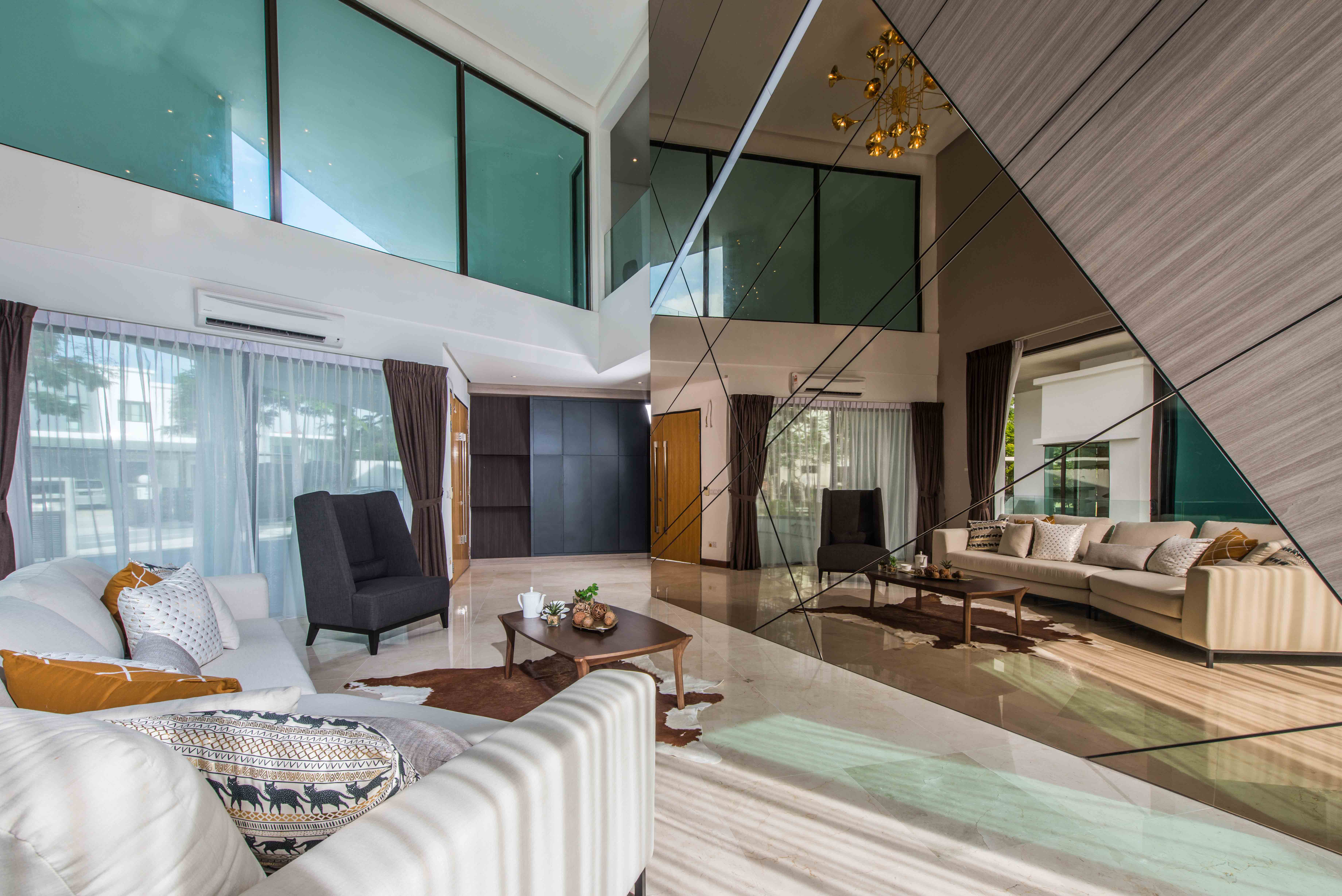 The residential interior design concept by Nu Infinity for The Mansion in Malaysia