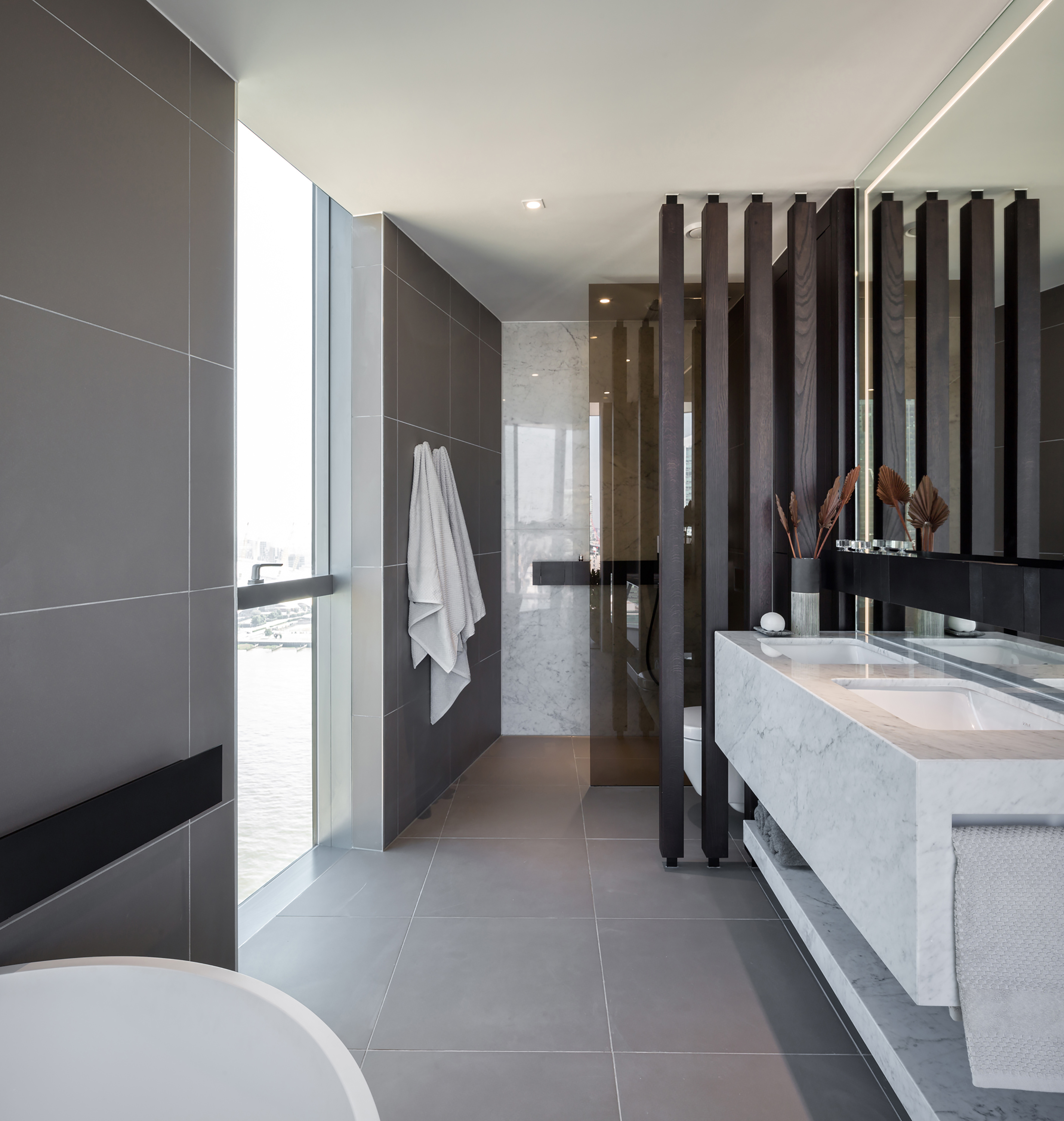 Specification of kitchen and bathroom interior design in london penthouse