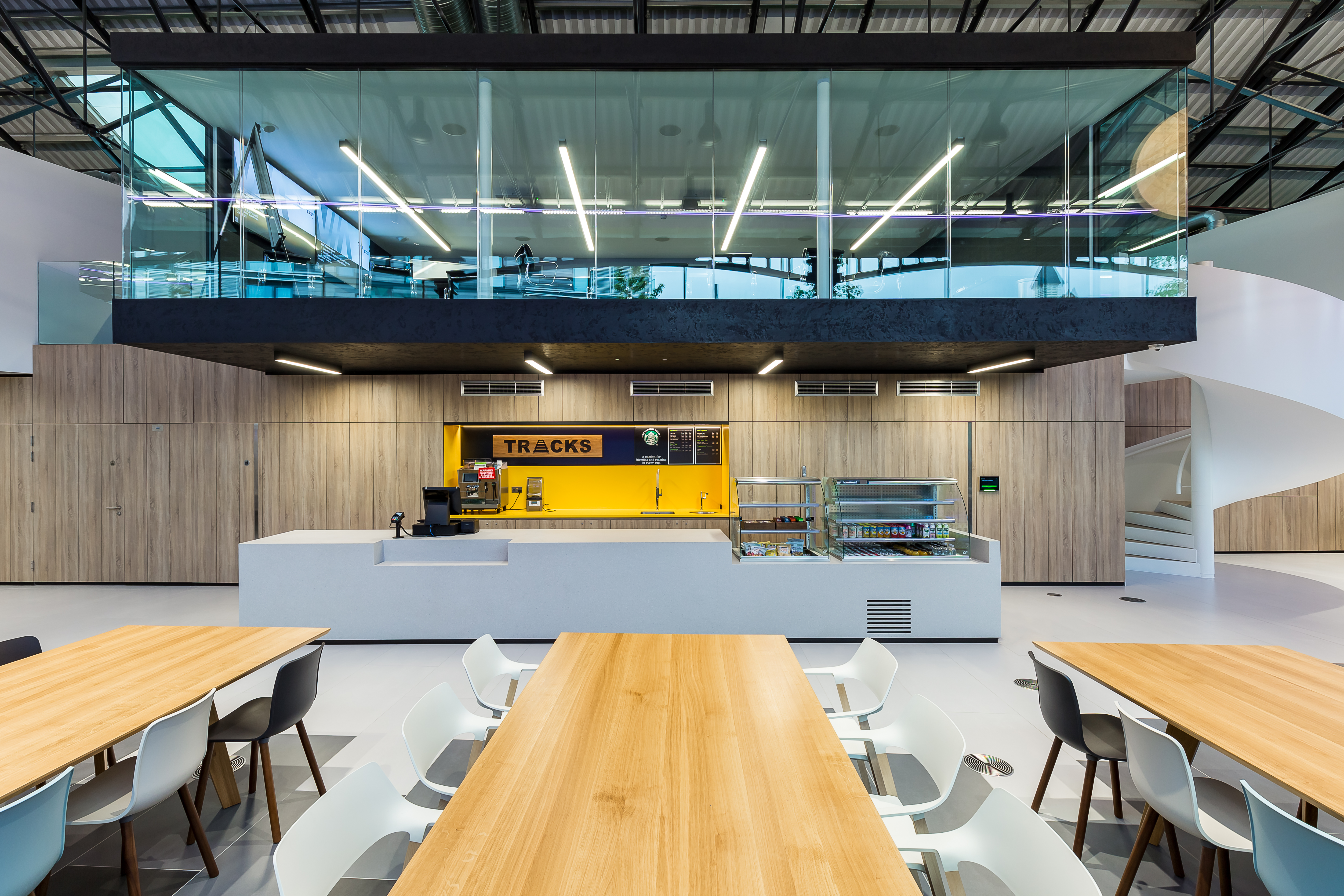 Interior design of a modern office space in Kings Cross, London by Oktra